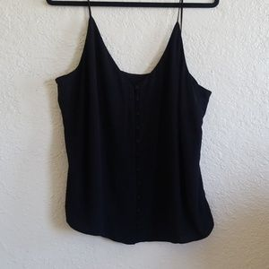 H&M | black front bottom tank top
